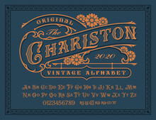 A Vintage Alphabet With Upper ...