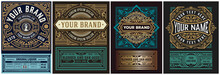 Mega Set Of 8 Vintage Labels. ...