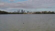Lake Monger, West Leederville And Perth CBD. Perth, WA, Australia