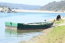 Boat On Shorline Of Himachal P...