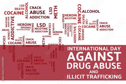 Photo International day against drug abuse and illicit trafficking concept