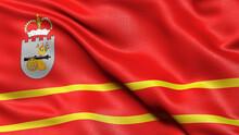Flag Of Smolensk Oblast Waving...