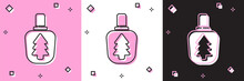 Set Canteen Water Bottle Icon Isolated On Pink And White, Black Background. Tourist Flask Icon. Jar Of Water Use In The Campaign. Vector Illustration