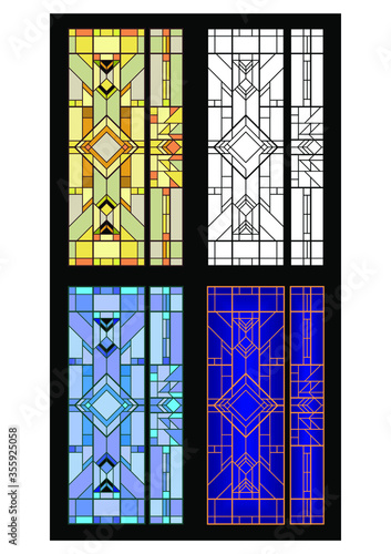 Fotomural stained glass window in church
