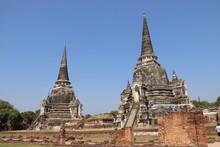 Wat Phra Si Sanphet à Ayutthaya, Thaïlande