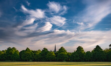 Church Spire, Trees And Sky