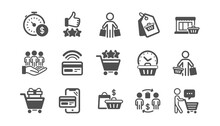 Buyer Customer Icons Set. Cont...