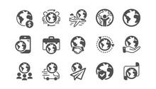 World Business Icons Set. Tran...