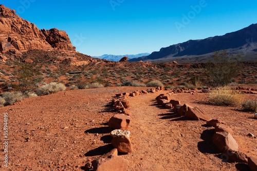Trail in the desert