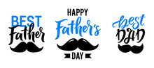 Happy Fathers Day Lettering Se...