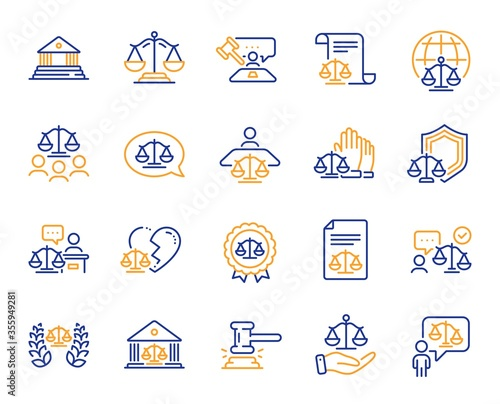 Vászonkép Court line icons