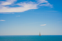 Blue Sky Seascape With Copy Sp...