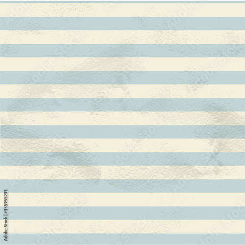 Obraz Blue seamless vintage pattern of  white horizontal strips on grange paper - fototapety do salonu