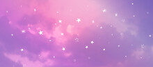 Contemporary Abstract Gradient Sky Background With Naive Stars