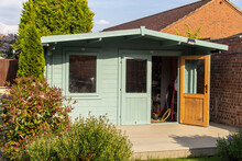 Big Garden Shed On A Beautiful Sunny Day