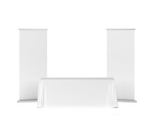 Blank Tradeshow Tablecloth Wit...