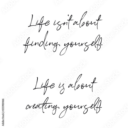 Fotografía Quote - Life isn't about finding yourself