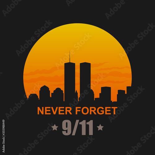 9/11 Patriot Day, September 11, 2001. Never Forget Fototapete
