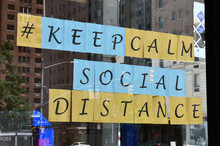 Signs Advocating Social Distan...
