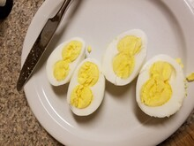 White Eggs With Double Yolks O...