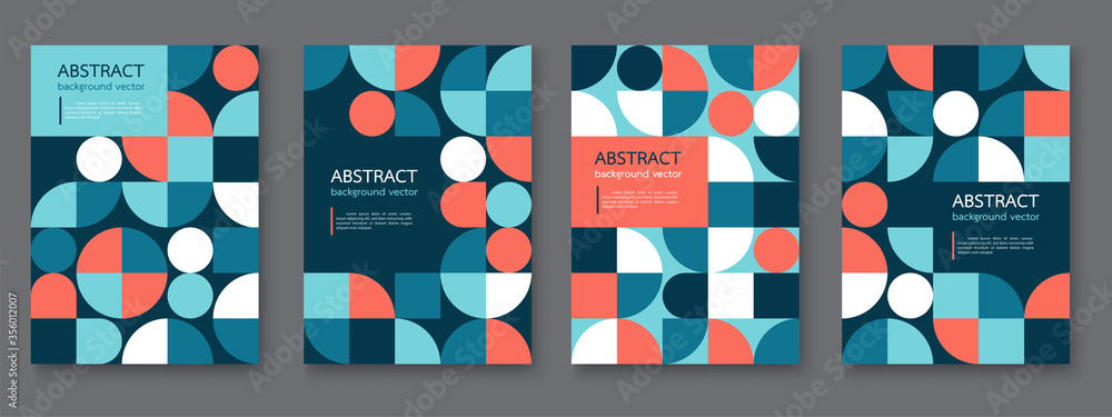 Fototapeta Triangle geometric pattern abstract background texture for poster cover design.vector covers design.