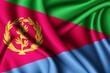 Leinwanddruck Bild - waving silk flag of Eritrea