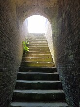 Very Old Stairs And Light At T...