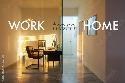 Fototapeta ,work from home concept