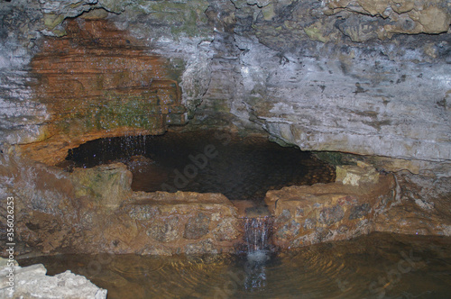 pool in a cave