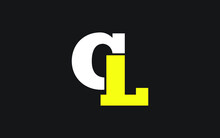 CL Or LC Letter Initial Logo D...