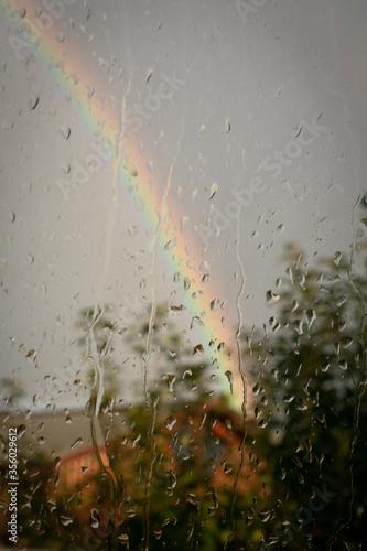 Obraz na plátne Colores de un día lluvioso