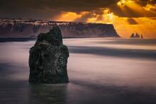 Sunset Over Coastal Volcanic R...