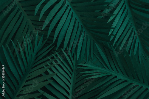 Photo Paper palm leaves