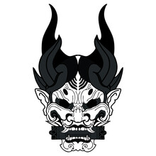 Mask Of Kabuki Vector Tattoo P...