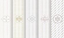 Set Of Seamless Stripe Pattern...