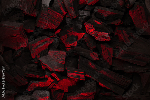 Fototapeta Hot coal barbecue grill backdrop