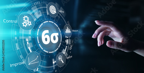 Six sigma DMAIC Industrial innovation technology quality control business concept Tableau sur Toile