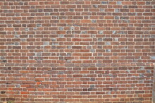 Red Rectangle Brick Wall Or Masonry Or Tessellation