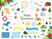 かわいい夏のイラスト...