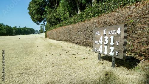 平均的なアマチュアゴルファーにとって、ミドルホール(パー4)の430ヤードはちょっと厳しいぞ Canvas Print