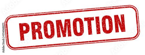 Fotografía promotion stamp. promotion square grunge sign. label
