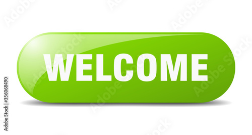 Fototapeta welcome button. welcome sign. key. push button.