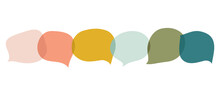 Collection Of Speech Bubbles And Dialog Balloons Doodle Hand Drawn Vector Collection.