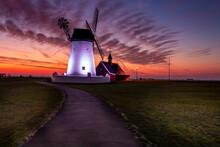 Windmill At Sunset Lytham St A...