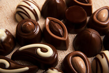 Сhocolate Candies On Light Ba...