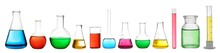 Set Of Laboratory Glassware Wi...