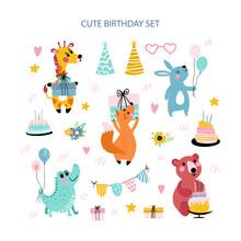 Birthday Set With Animals