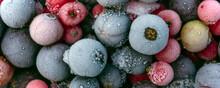 Macro View Of Frozen Berries: ...