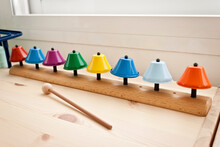 Children Music Therapy Color Bells. Therapeutic Instrument