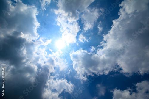 青空の素材 Fotobehang